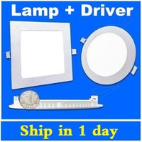 Wholesale Dimmable Led Panel Lights W W W W W Led Recessed Panel Ceiling Downlights Kitchen Lamp With Drivers
