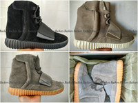 Cheap Adidas Yeezy Boost 750 Light Grey Gum Glow In The Dark Black Kanye West Yeezy 750 Boost Men Women Basketball Shoes Sports Running Shoes