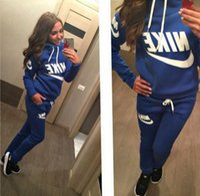 Wholesale Hot New Women active set tracksuits Hoodies Sweatshirt Pant Running Sport Track suit Pieces jogging sets survetement