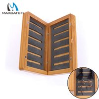 bamboo fly box - Maxcatch High Quality Bamboo Fly Fishing Box for Flies Fly Fishing Tackle Box