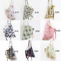 Wholesale Dual Purpose Printed Layers Cotton Linen Shopping Bag Straps Used as Cross Body Bags Shoulder Bag Messenger Bags Outdoor Bag
