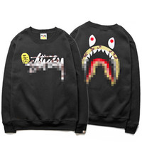 big men clothing - 2016 Big LOGO printing Hoodies shark street fashion true brand hip hop clothing blouses men poloshirt plus size black gray