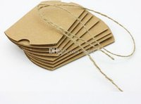 food wrap - New Arrive Cute Kraft Paper Pillow Favor Gift Box Wedding Party Favour Gift Candy Boxes Paper Gift Box Bags Supply