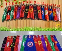 Wholesale New Superhero cape One lay cm Super Hero Costume for Children Halloween Party Costumes for Kids Children Costume