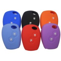 car body shell - Silicone Auto Car Remote Key Case Shell Cover For Renault button Clio Scenic Megane Duster Sandero Captur Twingo Modus