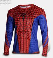 amazing fitness - The Amazing Spider Man Bodybuilding D tshirt Superhero Compression Men Quick Dry Long Sleeve T Shirt Fitness Men Sports Gym Clothing