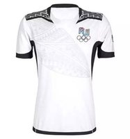 best quality white t shirt - Fiji White Rugby Jerseys Best Quality Adult Mens Rugby Kits Green Irish Rugby Thai Edition T shirts Factory New Arrivals