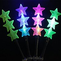 LED Magic Star Glow Stick clignotant Lights Up Clignotant Sticks Concert Party Ceremony Party Supplies