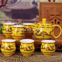 Wholesale Jingdezhen ceramic tea set insulated cup tea top grade teapot