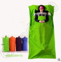 Wholesale 210 cm Polyester Pongee Sleeping Bag Liner Travel Sheet Sleep Sack Friendly Swede Travel And Camping Sheet Sleeping Bag CCA4657