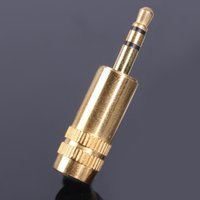 av headphone adapter - High Performance Microphone Male Female Jack Plug Stereo Headphone Microphone Audio Adapter Converter AV Gold Plated Mobile Laptop