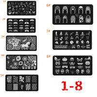 Wholesale Nail Art Polish Diy Stamping Plates Image Templates Nail Stamp Stencil Beauty Decorations Manicure Tools Random Delivery