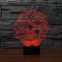abstract table sculpture - Peculiar D Abstract Shape Table Lamp Art Sculpture Lights Adornment Room With USB Line