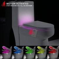toilet bowl - Tomshine Colors LED Dimmable Flexible Toilet Seat Night Lamp Motion Activated Sensitive Bathroom Bowl Light L1507