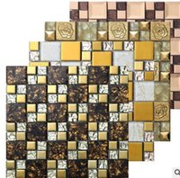 Wholesale The living room wall puzzle TV background wall tiles crystal glass mosaic tile