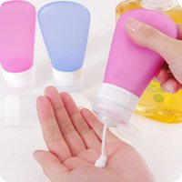 Wholesale Reusable Silicone Squeezable Bottle Cosmetic Points Bottling Lotion Shampoo Travel Container Easy to Use Refill and Clean