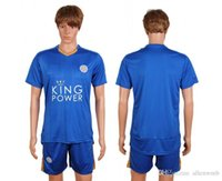 Wholesale Leicester City fc soccer jersey football uniform home away kit men kits man jerseys uniforms men set vardy with shorts sets