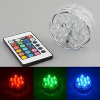 Wholesale waterproof Underwater Christmas light LED AAbattery RGB tea light Key IR Remote fish tank flowerpot wedding