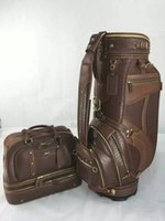 Wholesale golf staff bag boston bag new style XXI gennuine leather Golf caddy Bags quot in brown