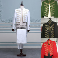 Wholesale Tuxedo Mens costumes show magician command clothing men s dress costumes of Bel Canto Singers white male costume for singer
