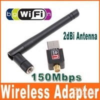 Wholesale 100PCS Mini M Mbps USB WiFi Wireless Network Card n g b LAN Adapter with Antenna C1289