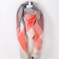 2016 diseñador de moda Marca cachemira triángulo rosa invierno de la bufanda de Pashmina mantón de