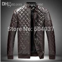 Precio de Venta caliente de la motocicleta-Fall-2015 Nuevos vendedores calientes de las chaquetas populares de Lether Chaqueta de cuero respirable masculina negra del remiendo de la motocicleta
