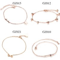 Wholesale Mixed order Fashion accessories Stainless Steel rose gold anklets women jewelry