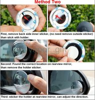 Wholesale Reversing small round mirror high definition mini rearview mirror Reversing Parking mirror can adjust angle blind spot mirror
