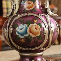 accessories tabletop decorations - European style living room decoration Home Furnishing vase desktop accessories luxuriously decorated flower decoration large creative retro