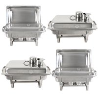 Wholesale 8 Qt Full Size Buffet Trays Pack Premier Chafers Stainless Steel Chafing Dish