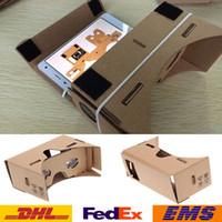 Wholesale 3D Glasses DIY Google Cardboard Mobile Phone Virtual Reality D Glasses Unofficial Cardboard Google VR Toolkit D Glasses WX G10