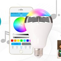 Wholesale Smart Bulb Bluetooth Speaker E27 LED RGB Light Wireless Music Bulb Lamp Color Changing via App Control smart light