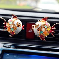 Wholesale Popular Cute Fish air conditioner clip perfume for Car Awesmoe nice Rhinestone car perfume for air conditioner and car perfume