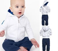 Wholesale Foreign trade new autumn and winter white suit children sweater suit autumn men s Hooded Hoodie trade move