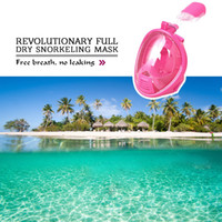 Wholesale Kid Snorkel Mask Full Face Degree Wide Angle Leak Proof Anti fog Free Breathing Scuba Diving Mask Installing Action Camera