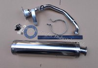 performance scooter exhaust - Performance Exhaust Pipe Exhaust System Stainless Steel x420mm for Scooter stroke GY6 GY6 QMI QMJ