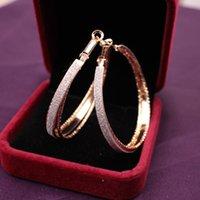 Wholesale European and American Earrings Matte Earrings Gold or Silver Plated Round Women s Earrings Beautiful wedding Earrings