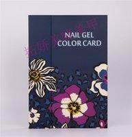 Wholesale New Tips Nail Gel Colors Display Card Book Display Box Nail Color Chart Manicure Tools