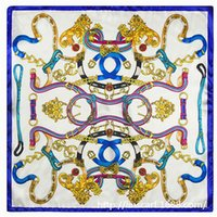 belt company - MTscarf Company new scarf pattern chain belt Women silk satin small square scarf