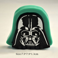 bakery shop decoration - 1pcs Star War Face Mask Silicone Mold Pastry Shop Mould Fondant Craft Cake Decor Tool Bakery Decoration Kitchen Gateau patisserie reposteria