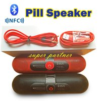 Wholesale Bluetooth Mini Speaker NFC Pill Speakers Active Audio High Quality Subwoofer With Retail Box DHL