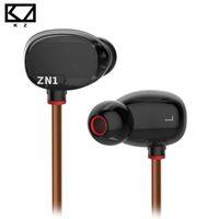 apple tuning - KZ ZN1 Earphone Double Modular HiFi dj Tuning Noise Cancelling Sensor In Ear Earphones mp3 player DJ fone de ouvido auriculares