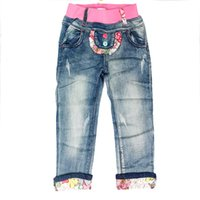Wholesale The Girl Jeans Printed Jeans Fashion Beautiful Lovely Pair Of Jeans Pink Jeans