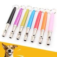 bark train whistle - 2016 New Home Garden Pet Dog Training Obedience Whistle UltraSonic Supersonic Sound Pitch Black Quiet Discipline Supplies JF
