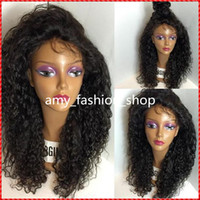 auburn delivery - Fast Delivery Brazilian Remy Virgin human hair B Kinky curly Full lace wig with Lace front wigs