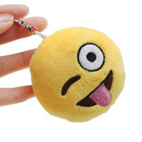Promotion amusing photos - 100pcs a Cute Keychain Car Women Key Rings Smiley Face Emoticons Emoji Amusing Key Chain Women Soft Bag Key Rings Accessory Key Chains