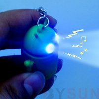 android robot accessories - by DHL Fashion Android Robot Keychain Accessories Sound Light LED Creative Pet key Ring Toy