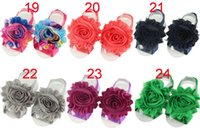 baby selection - 2016 hot chiffon baby sunflowers foot strap CM color selection of high quality fashion baby foot flower