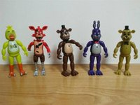 big bear doll - 10sets cm Five Nights At Freddy s fnaf Freddys figure With Lighting PVC Action Figures Toys Foxy Freddy Fazbear Bear Doll set